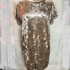 Windsor Tan Velour Dress Sz M